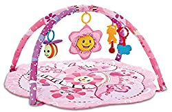 1-Tech Traders Sunflower Padded Play Mat for stimulating fun for baby 2- Toys include Sunflower,Honeybee,Butterfly (Removable Hanging Toys) 3-Exercise your baby's legs ability to cultivate baby's curiosity, self-confidence 4-Three stages encourage ki...