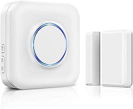 Wireless Door Alarm Sensor Security Door Open Alert,600ft Wireless Range with 52 Chimes,Kid Door Alarm for Home, Door Sensor Chime for Office,Non-Waterproof,1 Plug-in Receiver 1 Contact Sensor,White