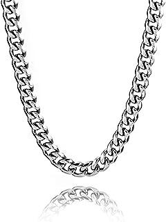 RUBY - 51 cm łańcuszek pancerka ze stali nierdzewnej, łańcuszek męski, łańcuszek na szyję dla mężczyzn, łańcuszek na szyję...
