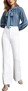 BCBG Max Azria Women's High-Rise Double Button Wide Leg Jeans