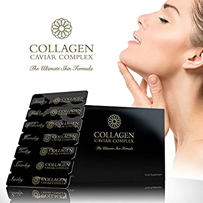 Premium Collagen (1000mg), Caviar (1400mg) Complex - Skin Care Nutrition - By Tom Oliver Nutrition from Tom Oliver Nutrition