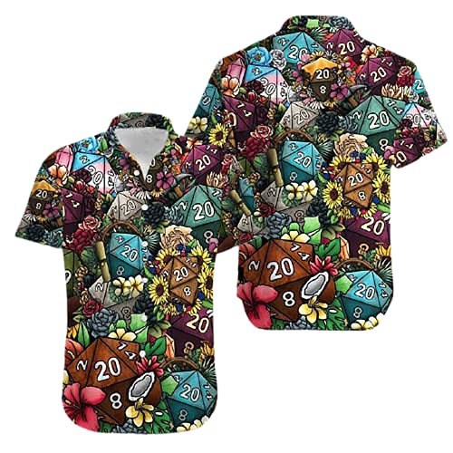 Dice Luck is in Small Things Hawaiian Shirt Button Down Short Sleeve Hawaiian Shirt
