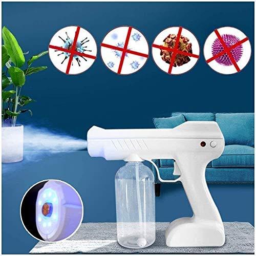 Pistola de pulverización de Nano desinfectante portátil, Fogger ULV, desinfección médica Luz azul Nano Steam Spray Spray Pistola ULV eléctrico Pulverizador portátil Ultra Bajo Atomizador Desinfección