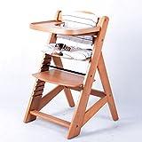 TIGGO Hochstuhl Treppenhochstuhl Babyhochstuhl Kinderhochstuhl Kindertreppenhochstuhl Babystuhl NATUR 6551-D01 C