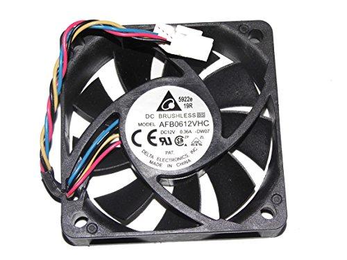 Sunnystar AFB0612VHC CPU-ventilator, 6 cm, 12 V, 0,36 A, 4 kabels, Delta