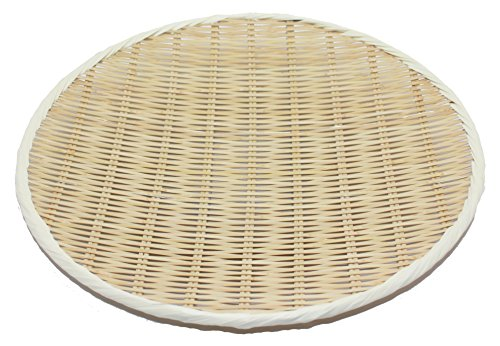 竹製 樹脂渕 丸盆ザル 42cm 15-808