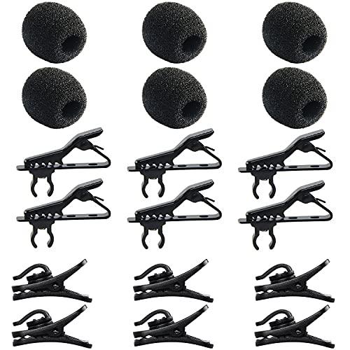 18Pcs Lapel Microphone Replacement Kit -...