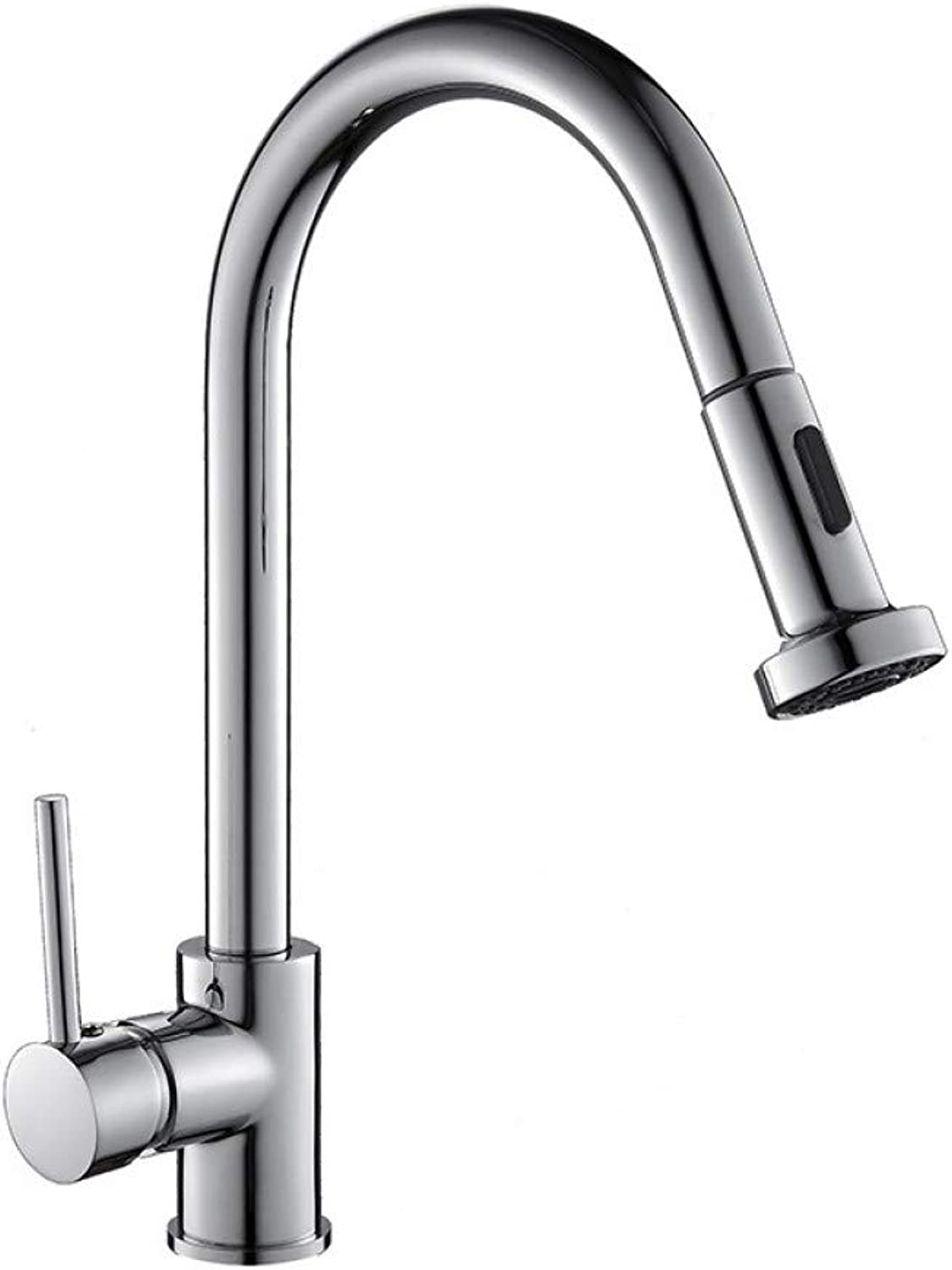 SUHANG Faucet Chrome Brass Pull Out Kitchen Faucet Kitchen Sink Mixer Hot and Cold Kitchen Sink Tap