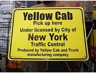 プラスチック看板 『Yellow Cab New York/イエローキャブ』 CA-39 ガレージ雑貨 アメリカン雑貨 世田谷ベース