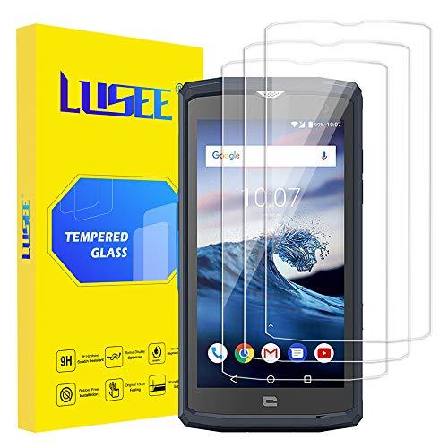 Lusee 3 Pièces Verre Trempé pour Crosscall Core X3 5.0 Film Protection écran [9H Verre Dur] [HD Clair] [Anti Rayure] [Anti Empreinte] 2.5D Film de Protecteur d'Ecran pour Crosscall Core X3 5.0