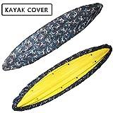 FBKPHSS Housse de Canoë Kayak, Imperméables Anti-UV Couverture Anti Vent et Anti Poussière Universelle Kayak Bâche Bateau pour Kayak Protection Extérieure Toutes Saisons,Ocean Color,5.6to6m