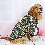 QIAO-RIHZKEJI Robe Parfaite Vêtements for Chiens, Moyens et Grands Vêtements de Camouflage (Color : Two Feet, Size : 34)