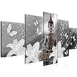 Decoración de la mesa de Buda Mural - 150 x 75 cm Vista de impresión en lienzo Salón Apartamento - listo para colgar - 505653c