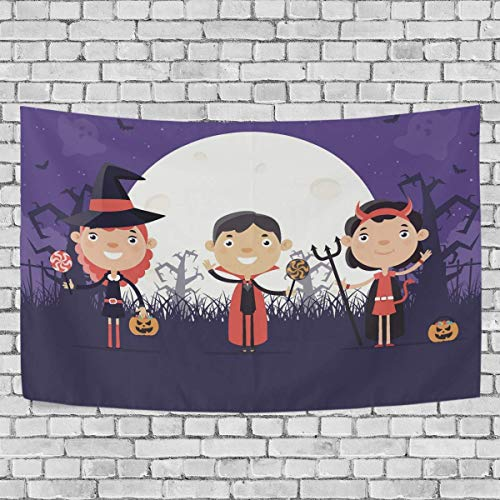 N\A Tapiz de Dormitorio para nios con Disfraz de Halloween, Tapiz Exclusivo para Colgar en la Pared, tapices de Fondo Multiusos para Sala de Estar, Entrada y Cocina