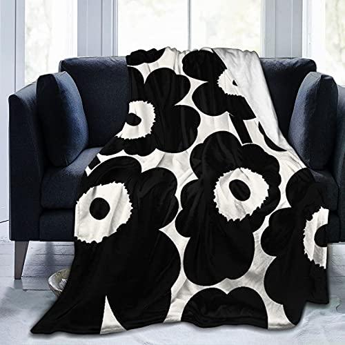 "Xutazu Marimekko Unikko Soft and Warm Throw Blanket Plush Bed Couch Living Room Fleece Blanket 50""X40""60""X50""80""X60"""
