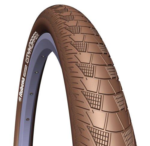 Rubena V99 CityHopper - Neúmatico para Bicicleta, 26X2.00 Pulgadas, Color marrón