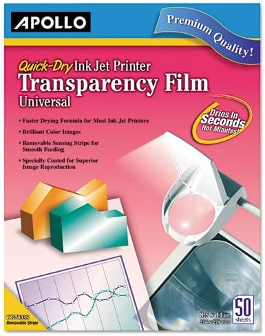 Transparency Film for Inkjet Devices Clear B ! Super beauty product restock quality top! as Sold Box 1 Indianapolis Mall 50