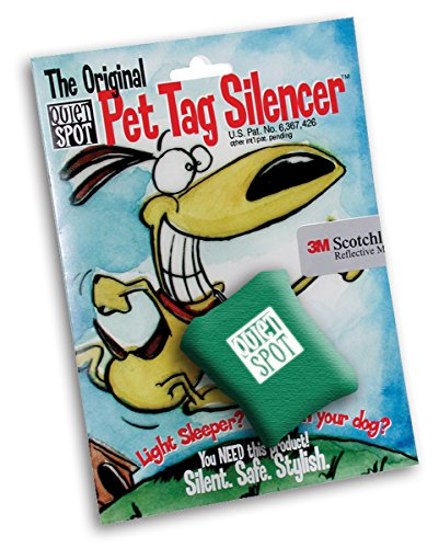 Quiet Spot Pet Tag Silencer (Green)
