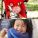 BCOZZY Kinder Nacken und Kinn stützendes Reisekissen - unterstützt den Kopf, Hals und das Kinn. Ein Patentiertes Produkt. Kindergröße, MARINEBLAU - 5
