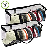 Evelots Sport Cap Bag-Extra large-20 Hats-Trucker Style-Clear-Handles- Set/2