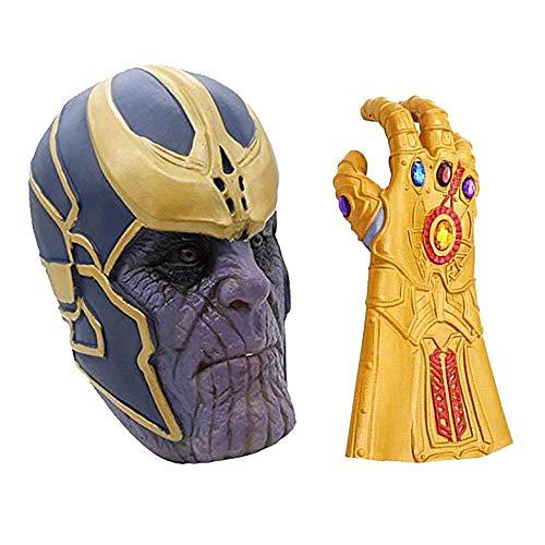 MIMINUO Avengers Infinity War Cosplay Maske mit Infinity Gauntlet Handschuh Kostüm Party Requisiten
