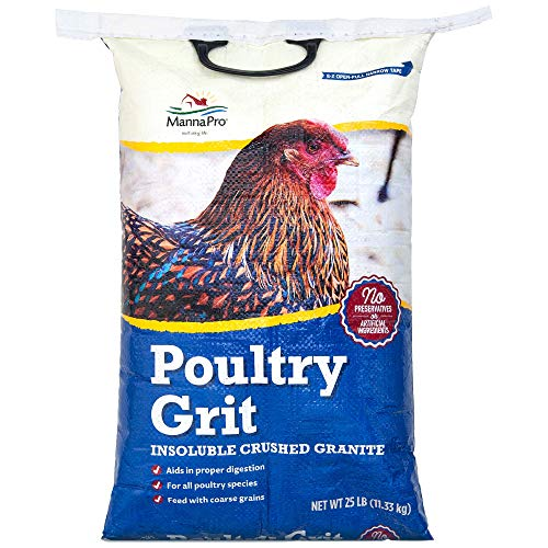 Manna Pro Poultry Grit|Insoluble Crushed Granite|25 Pounds