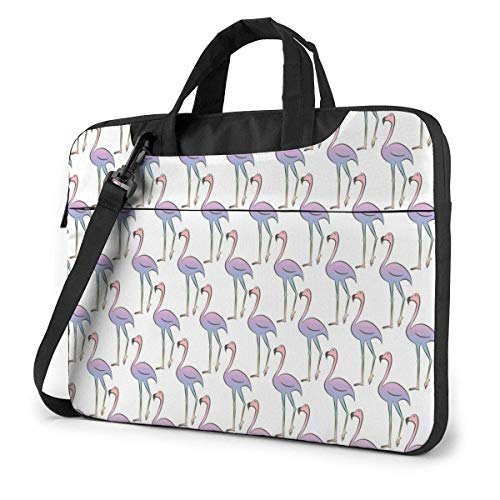 Flam-ingo Colorful Rainbow Cute Laptop Case Laptop Shoulder Messenger Bag Funda para 13 a 15.6 Pulgadas