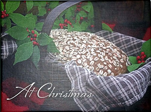 "Best Value ""At Christmas"" with Holly and Bread Card Box Set of 20 Cards and Envelopes AT A GOOD PRICE {jg} Great for Mother, father, dad, grandma, grandpa, lgbtq, gay, cousin, sister"