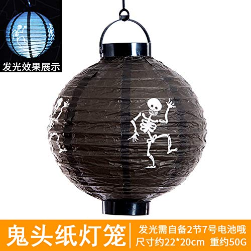 Halloween-Laternen-Geist-Festival-Dekorationen Jack Pumpkin Lights Hand-hängende Kürbis-Papierlaternen Schwarze Origami-Laternen