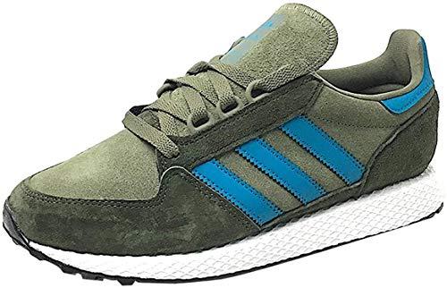 adidas Forest Grove, Zapatillas de Gimnasia Hombre, Marrón (Raw Khaki/Active Teal/Night Cargo), 38 EU