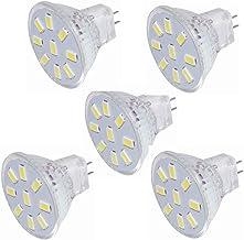 LED Light Bulb 5Pack 3W LED MR11 Light Bulbs, 12v 24v 20w Halogen Replacement, 9led 5730, GU4 Bi-Pin Base,AC/DC 9-30v (Col...