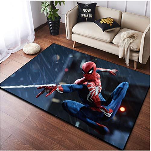 zzqiao Teppich Europäischen Und Amerikanischen Stil Cartoon Anime Spiderman Kinderzimmer Wohnzimmer Schlafzimmer Umweltschutz Anti-Rutsch-Bereich Rechteck 120 * 160 cm