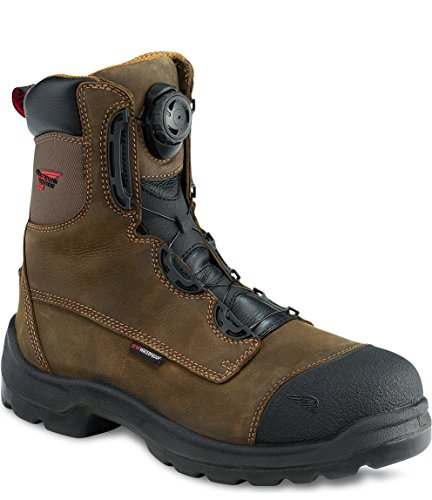 Red Wing 3268 Men's 8-INCH Safety Boot Brown UK 6.5