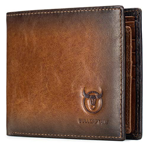 BULLCAPTAIN Wallets for Men with Do…