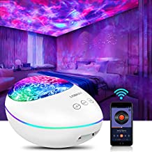 LOBKIN Ocean Wave Star Projector Night Light Built-in Music Player Baby Bedside Lamp Remote Sleeping Soothing White Noise Sound Cool Machine for Kids Living Room Decor rotate Bedroom Bluetooth Speaker