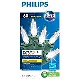 Philips 60個 LED ピュアホワイト ミニライト