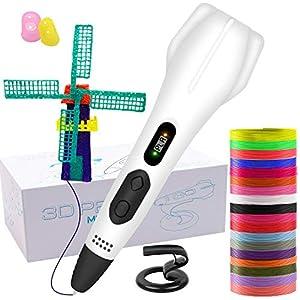 Bolígrafo de impresión 3D, con filamento de 18 colores, cambio automático manual de impresión de 6 velocidades, compatible con PLA y ABS, regalos de juguetes de Navidad para niños