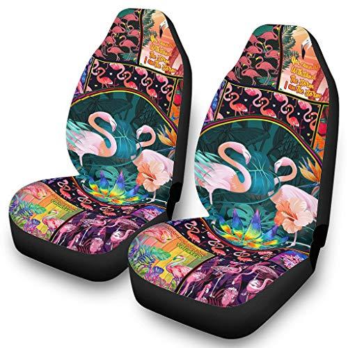 DOGCATPIG Fundas de asiento de coche de lujo Flamingo Colorido Animal Flower Soft Seat cubre para asiento de coche de bebé blanco onesize ⭐