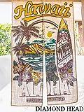 【DIAMOND HEAD】○o。新作!!ハワイアン クラシック アロハ柄 ジュート のれん 86x150cm タペストリー *南国 【ハワイアンインテリア】【ハワイアン雑貨】ハワイ カーテン 西海岸 カリフォルニアスタイル サーフィン ボタニカル フラガール ハイビスカス ヤシの木 ダイヤモンドヘッド 。o○