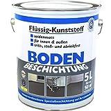 Rivestimento per pavimenti, vernice per pavimenti RAL7001, plastica liquida, 5 L
