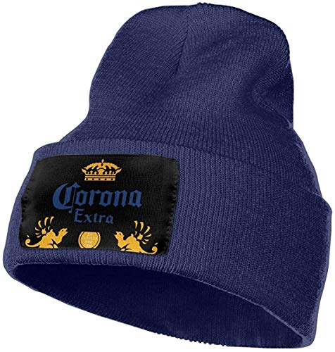 GDHGD Sombreros de Calavera Gorro Gorro de Gorro Sombrero de Gorra de esquí Gorra Corona Cerveza Extra Sombrero de Invierno cálido Gorro de Punto Gorro de Calavera Cuff Gorro de Gorro Sombreros d