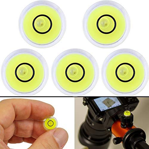Niveau à bulle, paquet de 5, Ø 12 mm de diamètre, niveau à bulle de précision avec bulle d'air, mini niveau à bulle pour appareils photo, camping et caravanes, bulle niveau