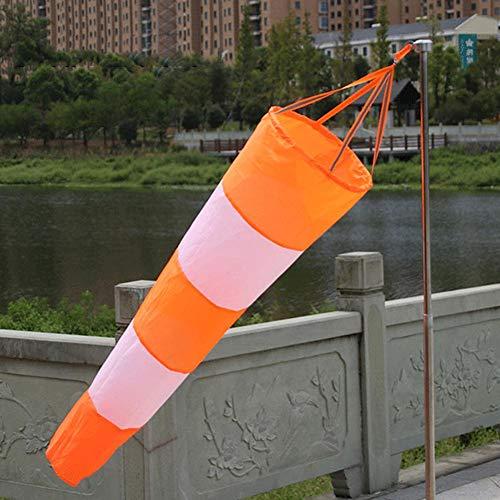 Windsack Rip-Stop Nylon Windrichtungsmessung Sockentasche mit reflektierendem Gürtel für den Außenbereich Airport Farm & Park-80cm