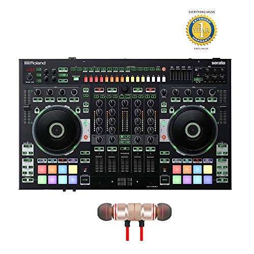 Find Discount Roland 4-channel, 2-Deck Serato DJ Controller (DJ-808)includes Free Wireless Earbuds...