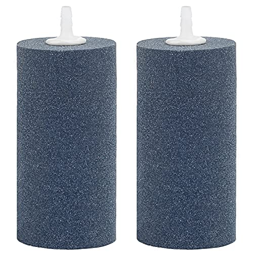 Uniclife 2 PCS Large Air Stone Cylinder 10CM Bubble Diffuser for Pond and Aquarium Fish Tank