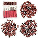 N / A 300pcs 80/120/180 Grit Taladro Bandas de lijar con 6 Reemplazo de bits Puestos