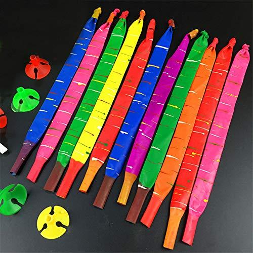 Esoar 100 x Lange Raketen-Luftballons mit Tube Party-Füller, lustiges Spielzeug für Kinder