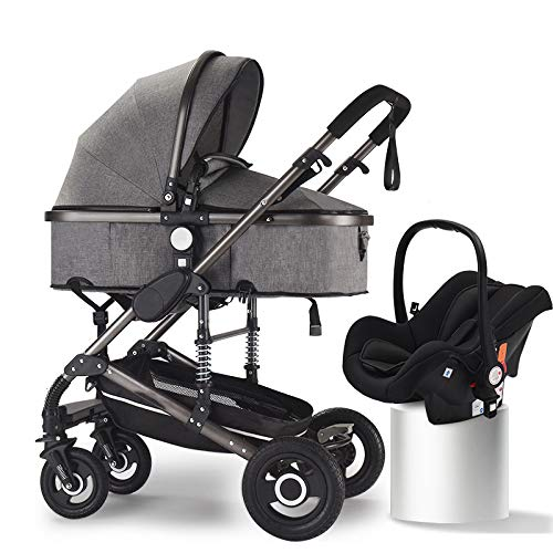 Buy Rabbfay Baby Stroller 360 Rotation Function, 2 in 1 Convertible Carriage Bassinet to Stroller, P...