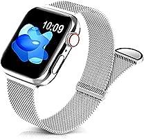 Jiamus Metall Armband Kompatibel mit Apple Watch Armband 38mm 40mm 42mm 44mm,Klassisches Prämie Edelstahl Metall Mesh...