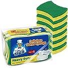 MR.SIGA Heavy Duty Cellulose Scrub Sponge, Dual-Sided Dishwashing Sponge for Kitchen, 12 Pack